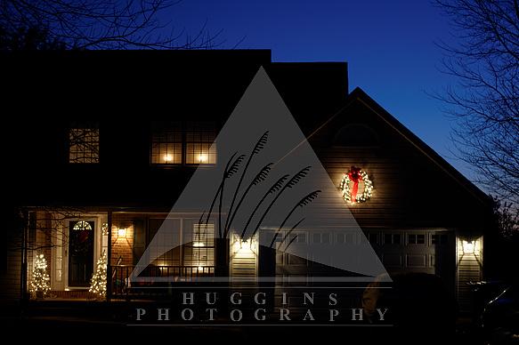 Traditional white Christmas lights